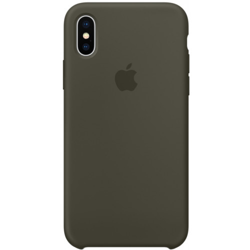 Silicon Case Apple iPhone XS Max тёмно-оливковый