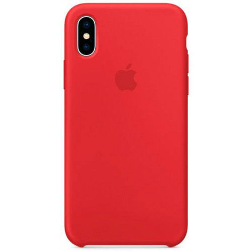 Silicon Case Apple iPhone XS Max красный